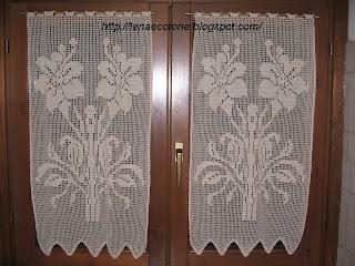 Lana e Cotone (maglia e uncinetto): Tendine a filet