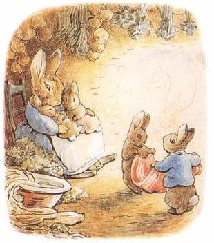 Ilustração de The Tale of Benjamin Bunny