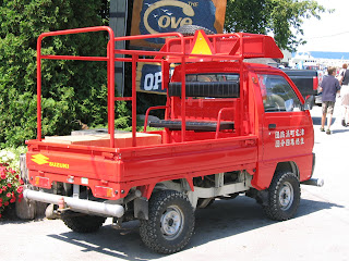 Tamerlane's Thoughts: Carspotting (19): 1990 Suzuki Carry 4x4 fire truck