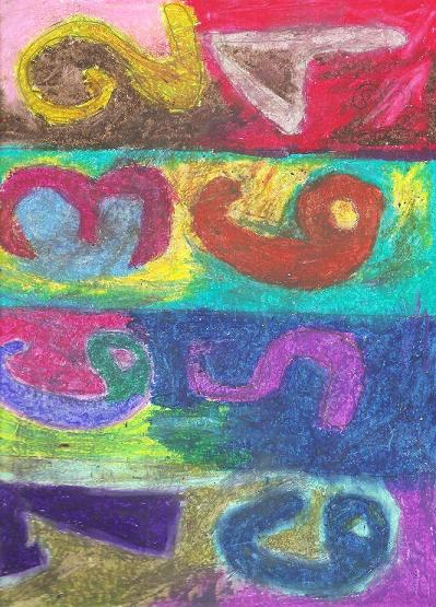 Jasper Johns: Numbers in Color with Oil Pastels for Kids