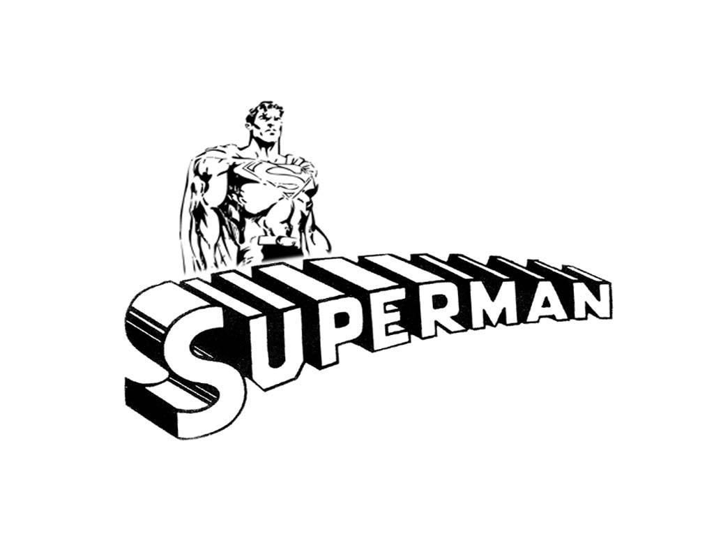 Wallpaper Superman Black And White