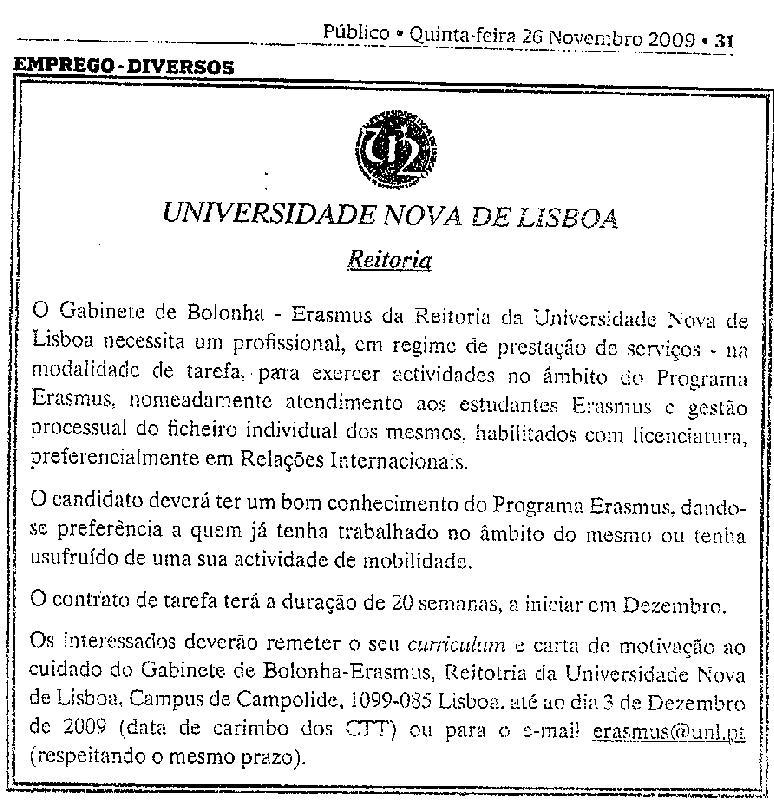 Reitor Da Universidade Nova De Lisboa Contrata A Falsos