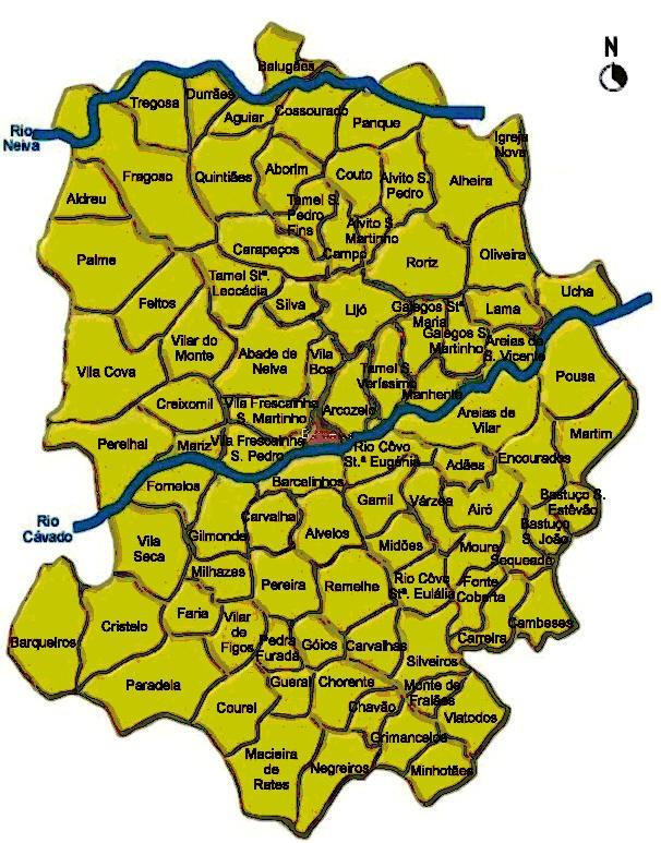 mapa das freguesias do concelho de barcelos ESPIRAL POSITIVA: Reforma da organização administrativa  mapa das freguesias do concelho de barcelos