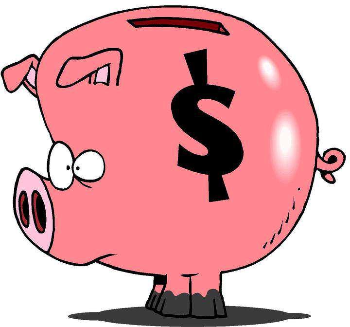Cartoon Clipart: Piggy Bank Clipart