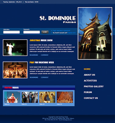 Saint Dominique Parish - Church News Template