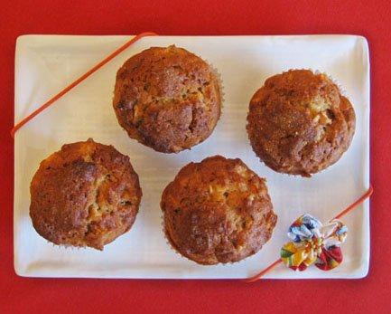 Travessinha com quatro Muffins