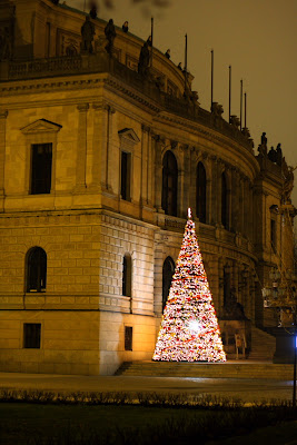 Prague - Christmas tree at Jana Palacha square