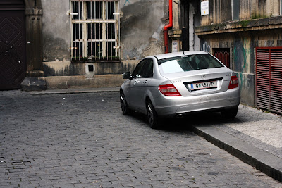 Prague - Mercedes C and Prague backstreet