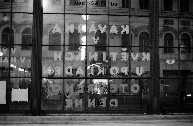 Prague - Masarykovo train station hall window
