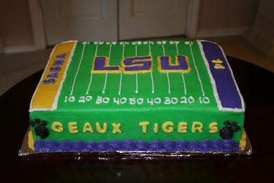 Rachel S Creative Cakes Lsu Cake