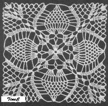 Pineapple Crochet Doily Pattern - Create a Website | Tripod Web