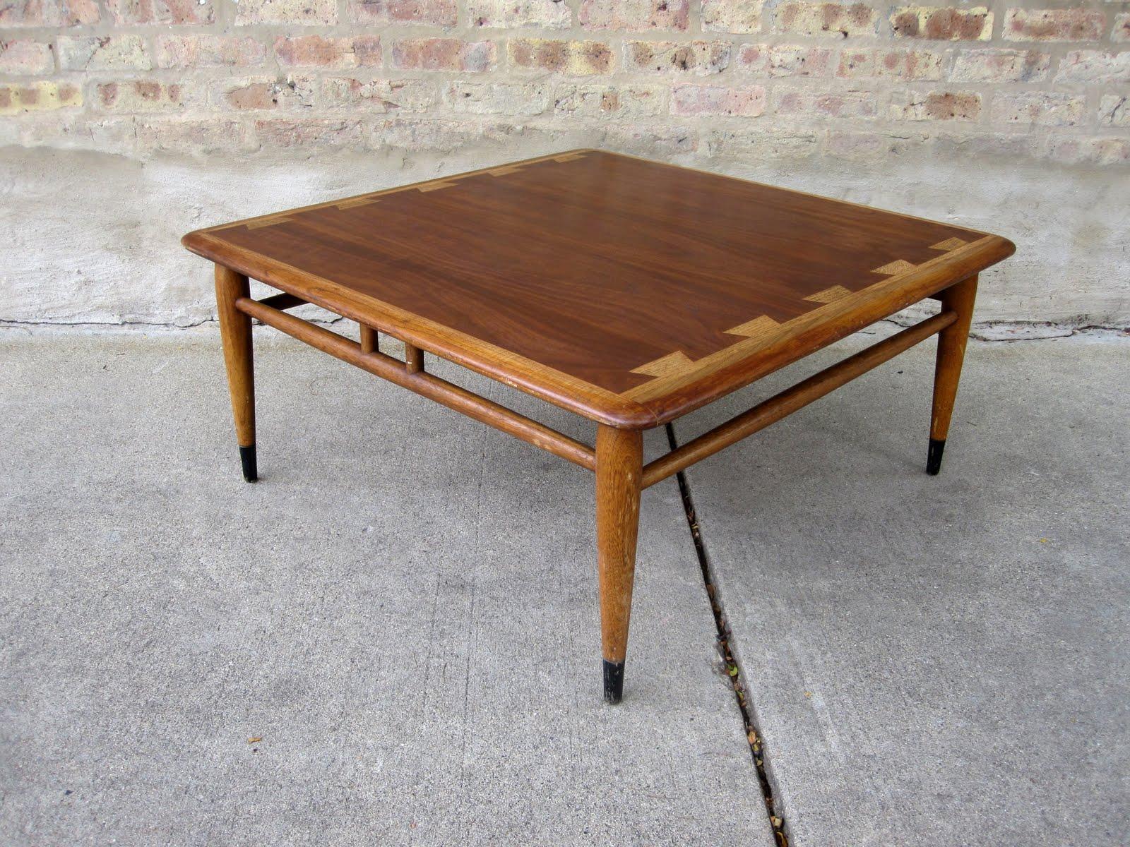 circa midcentury: 'lane' acclaim square coffee table