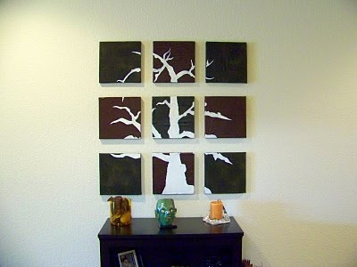 Someday Crafts: 9 Piece Fragmented Wall Art