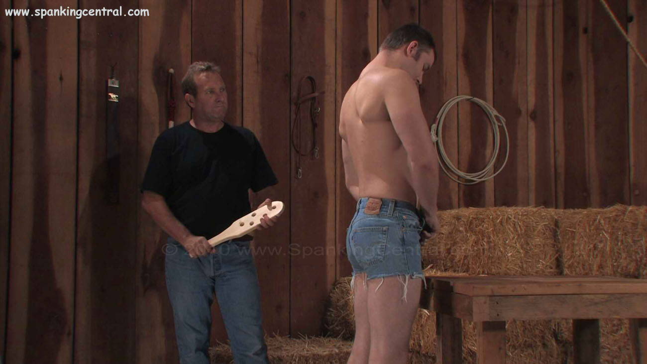 Rex Is Paddle Ready At Spanking Central
