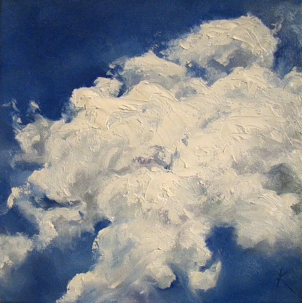 Sky And Cloud Painting Blue I By Canadian Artist Kim Blair