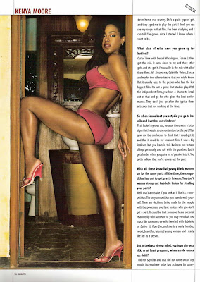 Nude kenya moore in smooth magazine