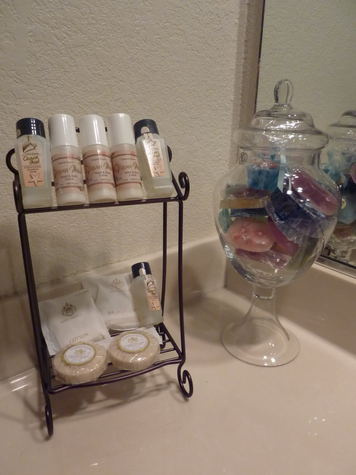 Trace My Footsteps Guest Toiletries Display