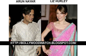 Arun Nayar and Elizabeth Hurley in Traditional Indian Costumes
