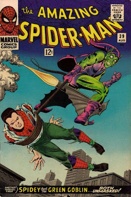 Amazing Spider-Man #39, John Romita makes his debut and the Green Goblin carries off a helpless and unmasked Peter Parker, having discovered his secret identity