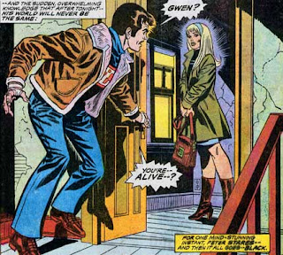 Amazing Spider-Man #144, Peter Parker returns to his apartment to find Gwen Stacy back from the dead