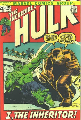 Incredible Hulk #149, the Inheritor, giant cockroach