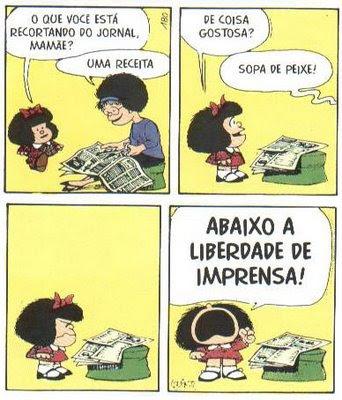 Mafalda e a liberdade de expressão
