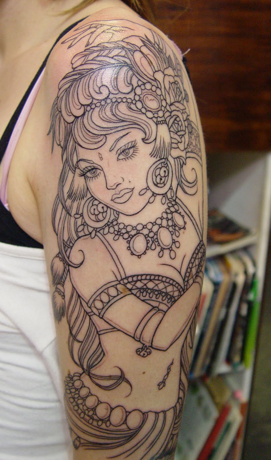 Gypsy Girl Tattoo Designs