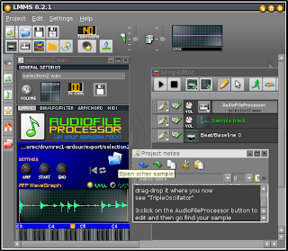 FreqRush - experiences with shared audiosoftware: 2007