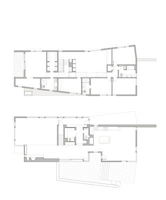 arplanos plan d 39 une maison contemporaine americaine. Black Bedroom Furniture Sets. Home Design Ideas