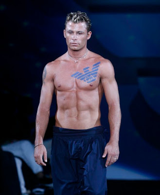 "Emporio Armani Menswear Spring/Summer 2009 - a statement. A ""tattoo"" of the"