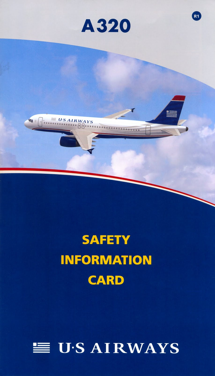 world safety cards us airways  airbus a320