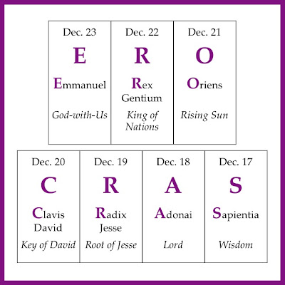 "Me monk. Me meander.: The ""GREAT ANTIPHONS""or ""O Antiphons"" of Advent II (December 17 to 24)"