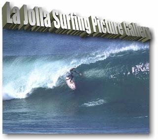 Surfing in La Jolla