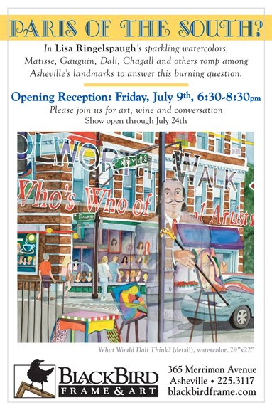 Opening Reception On Friday July 9th 6 30 8 Pm At Blackbird Frame Art