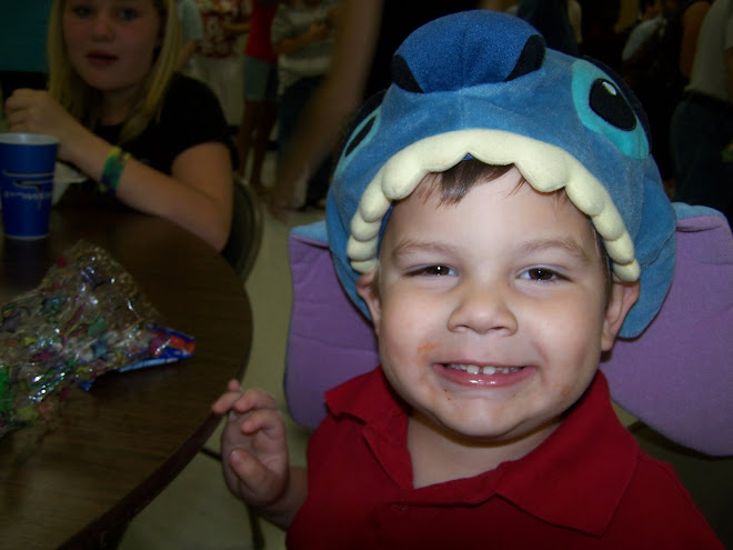 Tom the Stitch (his favorite hat right now)