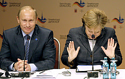 President Vladimir Putin was due to fly to Tehran on Tuesday for talks with Iran and other Caspian littoral states on two tough issues -- the long-running dispute on dividing the energy-rich Caspian Sea and Iran's controversial nuclear program.  On Monday in Wiesbaden, Germany, after talks with German Chancellor Angela Merkel, Putin dismissed reports of an assassination attempt planned on him during his Iran trip.  In Tehran, Putin will hold talks with Iranian President Mahmoud Ahmadinejad and the leaders of Kazakhstan, Turkmenistan and Azerbaijan to try to hammer out a solution on a Caspian border dispute that has impeded the development of several potentially lucrative offshore energy fields. A settlement could open the way for a pipeline under the Caspian that would take Central Asian gas to Europe, bypassing Russia.  But experts warned that the talks would likely produce no breakthrough on the issue, which has clouded relations among the five countries since the Soviet breakup in 1991.  Putin's visit could signal, however, how Moscow will proceed in its efforts to get Iran to stop uranium enrichment. Tehran has rejected Moscow's offer to enrich uranium in Russia, rather than in Iran, where the Bushehr nuclear reactor is being built.  Putin reiterated Monday that Moscow remained opposed to tougher sanctions on Tehran.  The international community must exercise patience and diplomacy to persuade Iran to halt uranium enrichment, Putin said.
