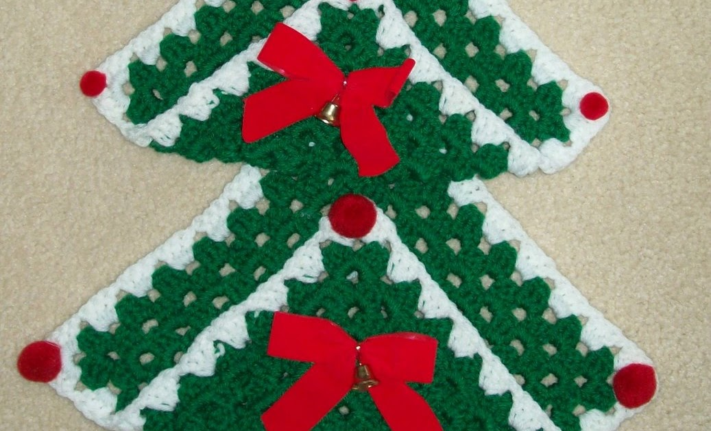 Hook Yarn And Pattern Granny Square Christmas Tree