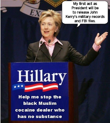Hillary Clinton announces John Kerry payback
