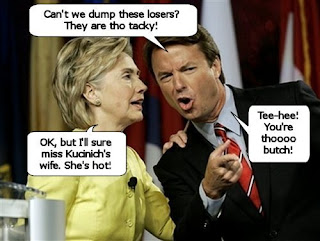Hillary Clinton and John Edwards plot to limit debates