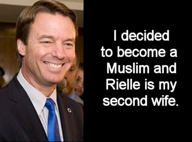 John Edwards says he is a Muslim and Rielle Hunter is his second wife
