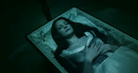 Meryl in her coffin