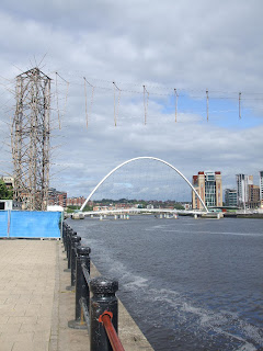 Bamboo Bridge over the Tyne for the SummerTyne festival