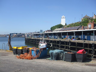 North Shields Fish Quay with the High Light in the background