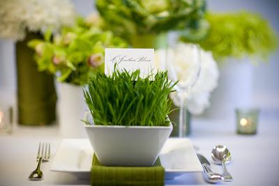 Green Wedding Centerpieces