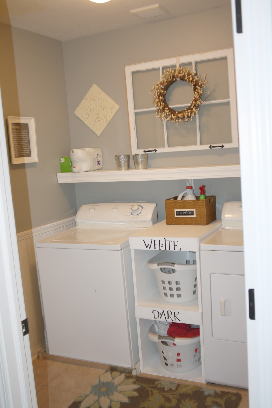 Laundry Basket With Shelves Myers Four A Laundry Room Redo