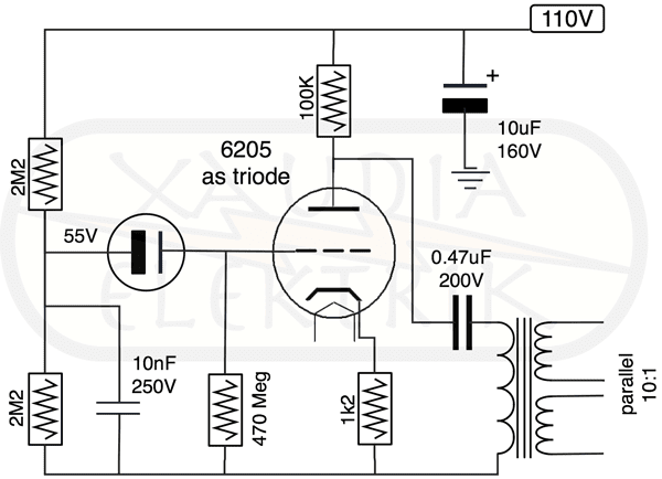 xaudia microphone blog  tube modified syncron microphone circuit 6v regulated heater supply omitted