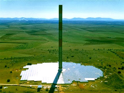 solar power tower diagram. solar power tower spain.