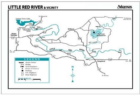 Little Red River Arkansas Map.The Fly Fishing Chronicles Of The Little Red River Map Of The