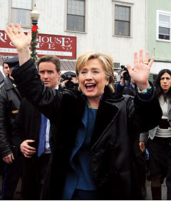 544cdcb8 ... ellengoodman@globe.com. ----------------------- ---------- - - Hillary  Clinton greeting supporters outside the River House Cafe in Milford, ...