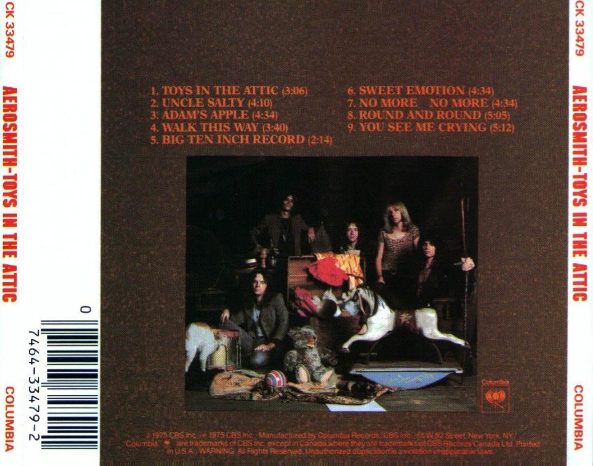 Caratulas De Cd De Musica Aerosmith Toys In The Attic 1975